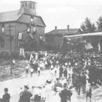 Dedication of the first church, 1911.