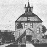 St. Hedwig's First Building, the School-Church, was built in 1911. To the left is the Convent built in 1913.